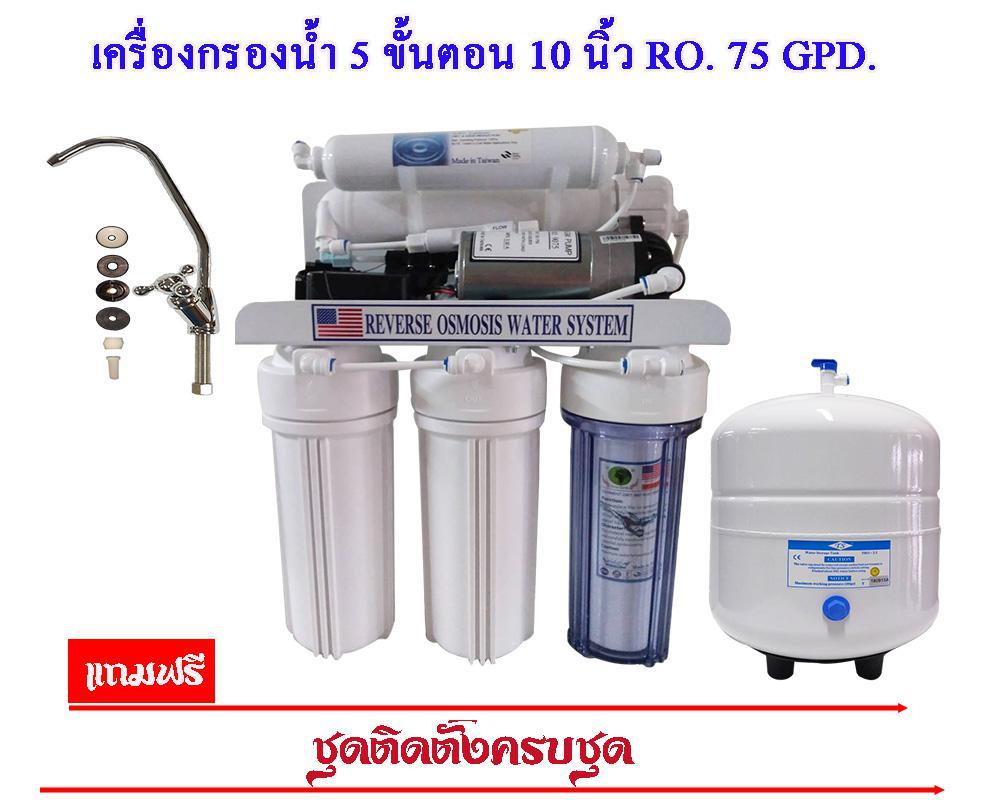 5 ขั้นตอน ระบบ RO 50 Gpd.